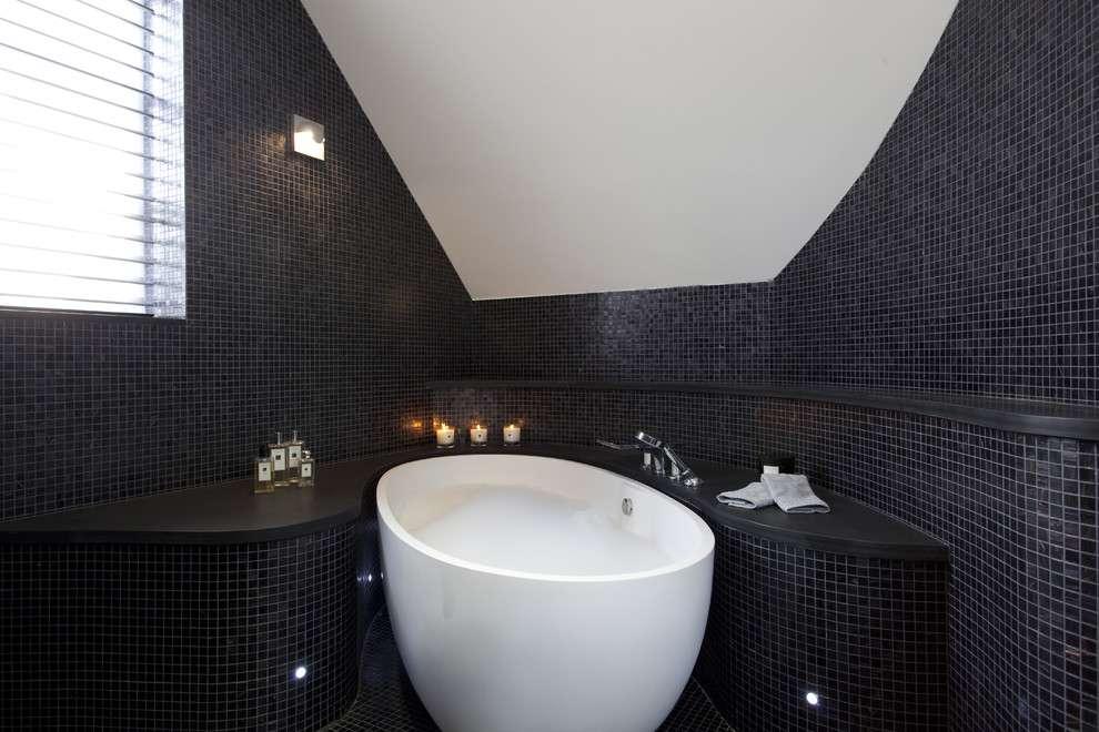 Чорно-біла ванна кімната (56 фото): шик і оригінальність у вашому будинку