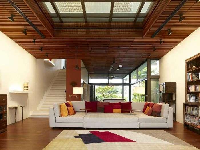 Деревяна стеля (46 фото): створюємо затишок і тепло в будинку