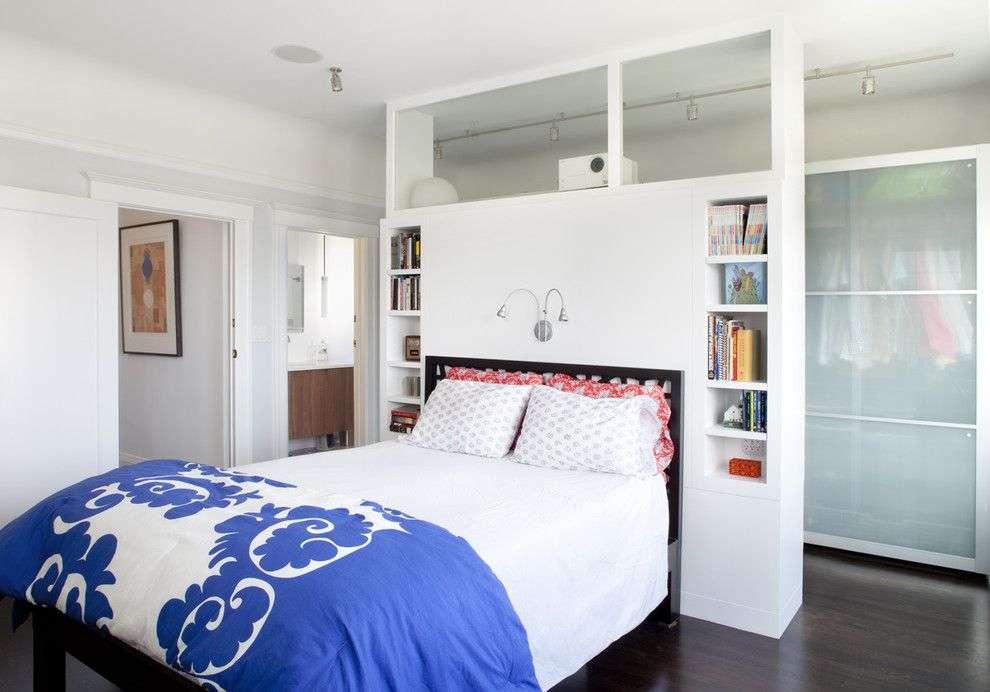 Стелаж-перегородка для кімнати (40 фото): оригінально, функціонально і ненавязливо