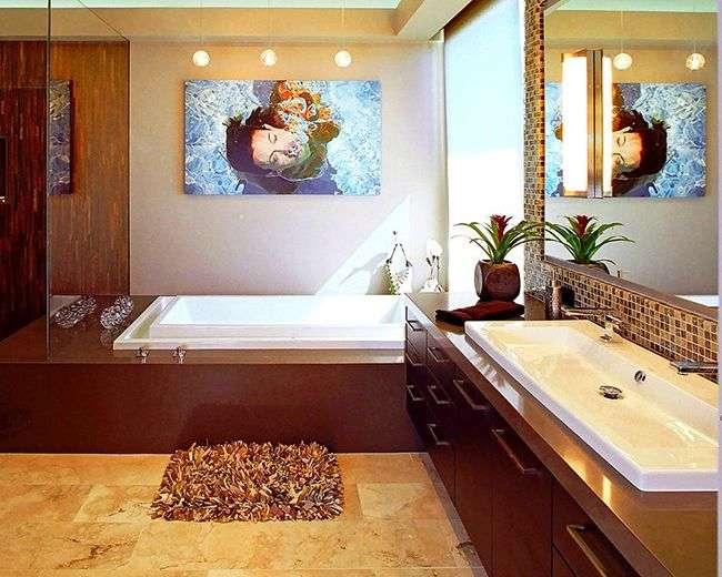 Килимки для ванної кімнати (40 фото): краса, безпека і комфорт
