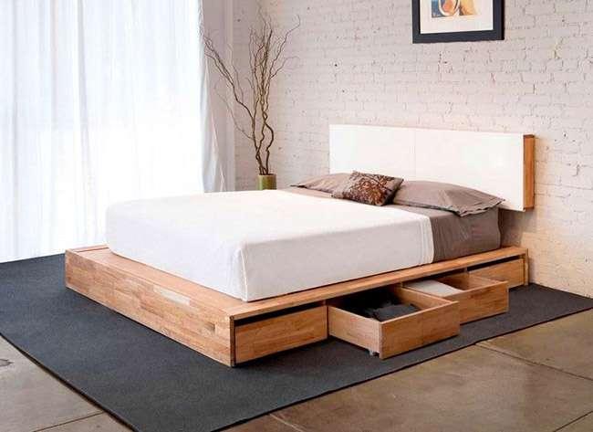 Ліжка двоспальні деревяні (50 фото): надійна розкіш