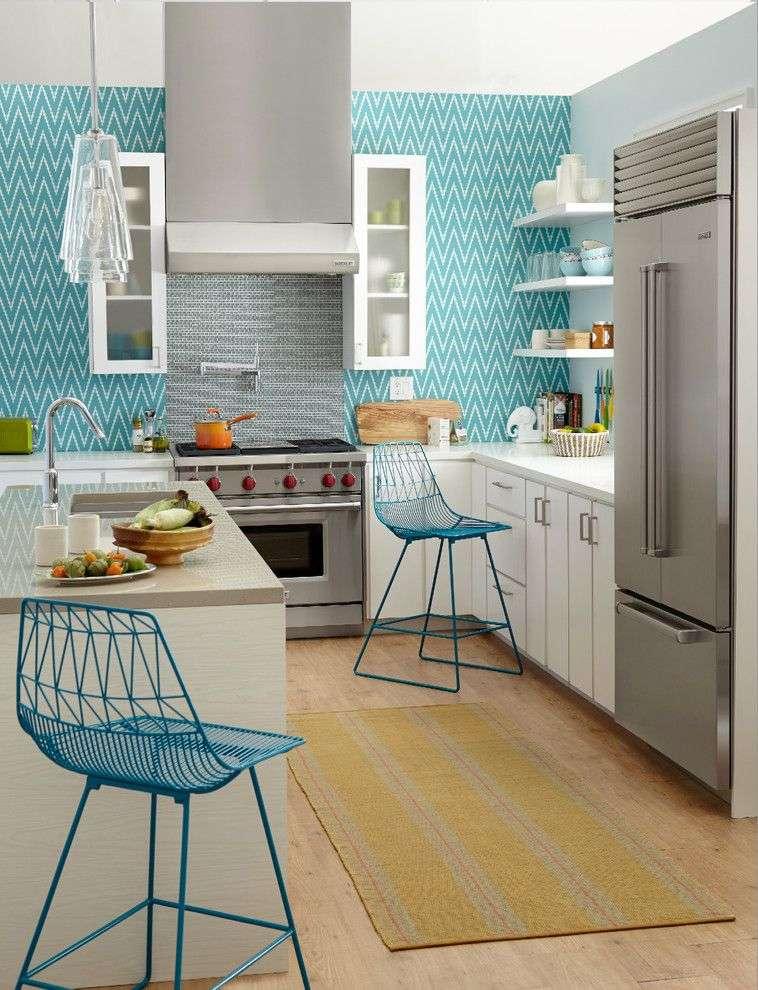 Миються шпалери для кухні (45 фото): практичний вибір стильного покриття