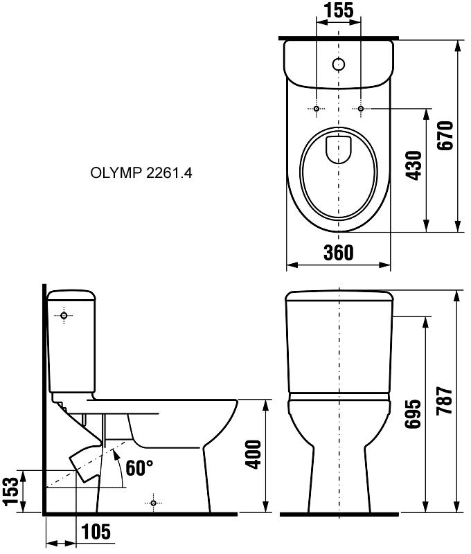 Сантехніка з косим випуском: переваги подібних унітазів, класифікація і установка