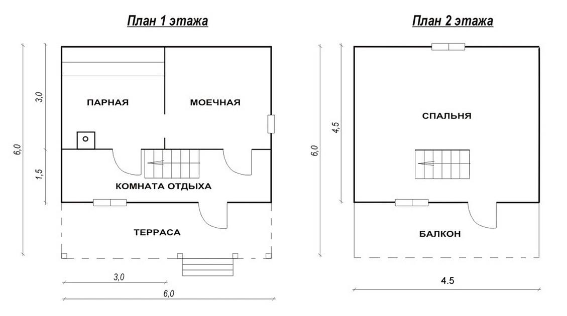 Лазня 6х6 метрів з мансардою: сучасні готові проекти та етапи будівництва
