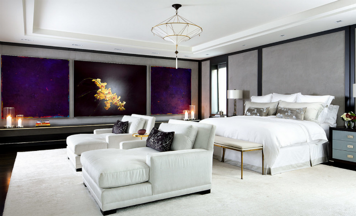 Біло-фіолетова спальня: поради дизайнерів по гармонійному поєднанню відтінків