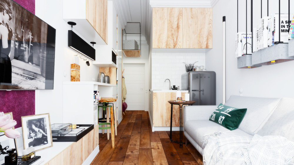 Компактні рішення: створюємо дизайн студії площею 25 кв. метрів з балконом