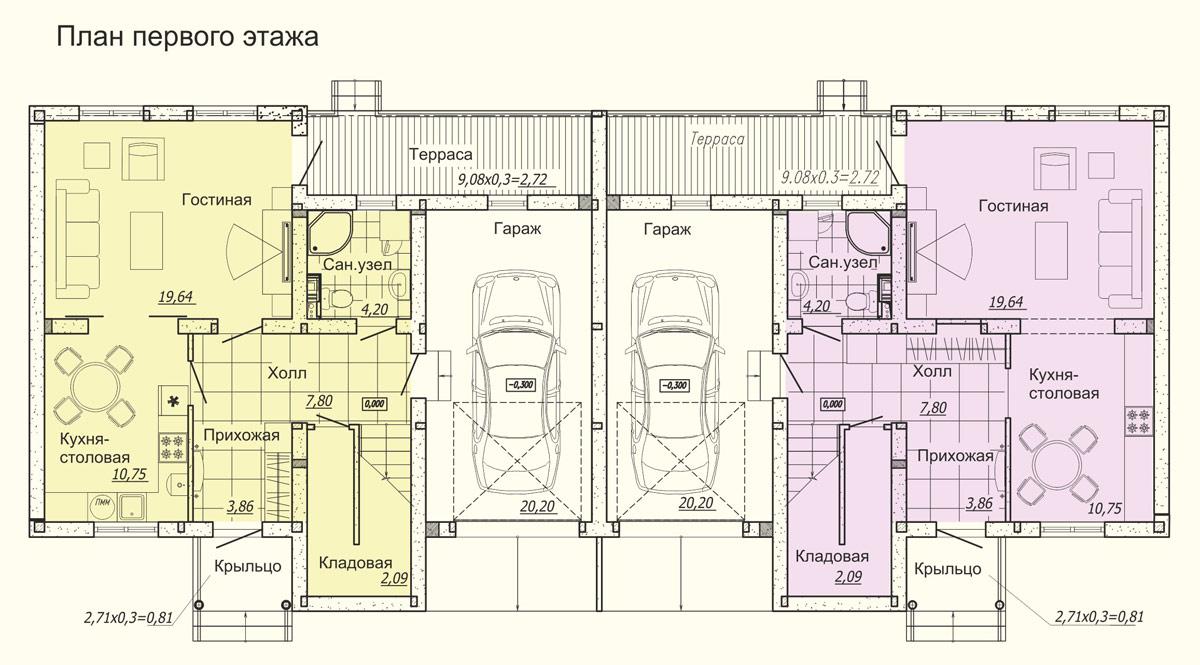 Що таке дуплекс? Відмінності від таунхауса, варіанти проектів і будівництво