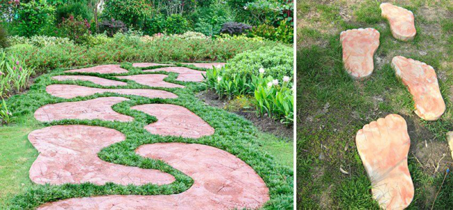 Садові доріжки без проблем: що потрібно знати і як вибрати потрібну форму для заливки?
