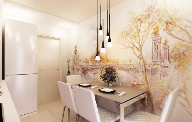 Фреска на кухні в інтерєрі: 60+ вишуканих дизайнерських ідей і способи укладання