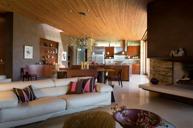 Етюд в нюдовых тонах: 60+ варіантів дизайну вітальні бежево-коричневого кольору
