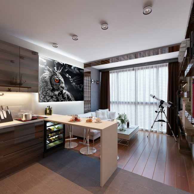 Кухня-вітальня площею 12 кв. м: створюємо продуманий інтерєр від мінімалізму і хай-тека до класики і мистецтво