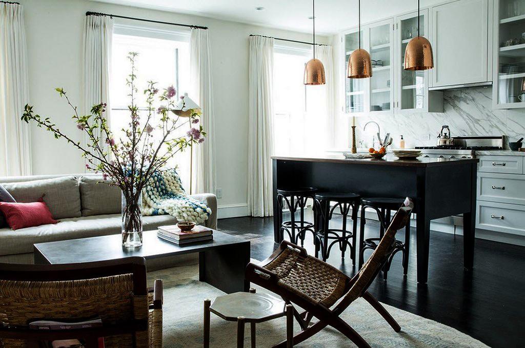 Вітальня-кухня площею 20 кв. м: огляд сучасних дизайн-проектів і планувань