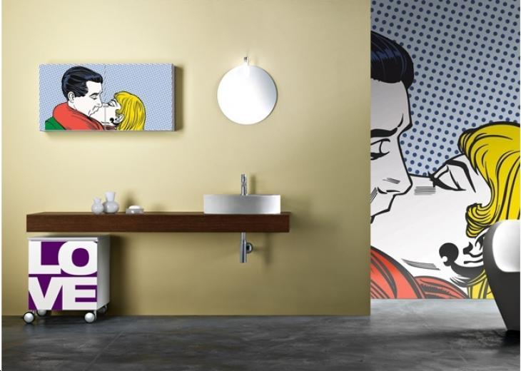 По стопах Енді Уорхола: добірка яскравих інтерєрів з шпалерами і постерами в стилі поп-арт