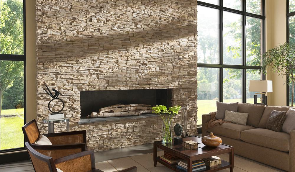 Стильний камяний вік: 60+ ідей оздоблення каміна каменем в інтерєрі