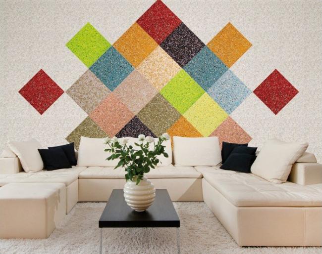 Картини і малюнки з рідких шпалер: перетворюємо звичайні стіни в яскраві арт-обєкти