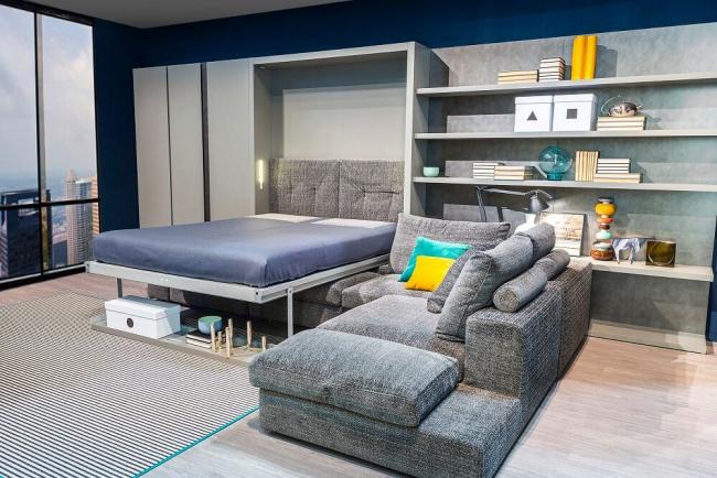 Обєднуючи простір: плануємо стильний дизайн спальні-вітальні 16 кв. м
