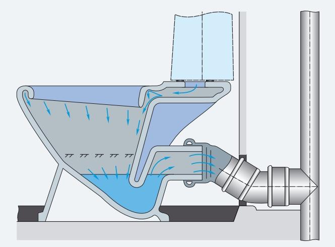 Унітаз з поличкою в чаші (тарілчастий): плюси-мінуси конструкції та поради з вибору